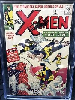 #1 X-Men & #2 X-Men Stan Lee Signed CGC Graded Off Wht/WHT. Sold Together
