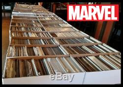 100 Comic Book HUGE lot All DIFFERENT Only MARVEL Comics FREE Shipping