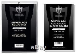 1000 Silver Comic Bags and Boards NEW Acid Free Max Archival Comic Book Storage