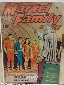1945 Marvel Family #1 First Black Adam! Hot Book