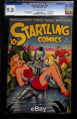 1948 Better Pub. Startling Comics #49 Classic Schomburg Robot Cover Cgc 9.0