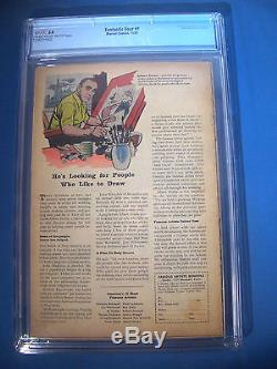 1961 FANTASTIC FOUR #1 Marvel Comics CGC Graded 3.0 GD/VG RARE Off WHITE Pages