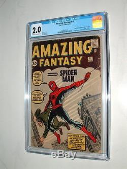 1962 Amazing Fantasy 15 Comic Book Cgc Graded 2.0 Looks Nice