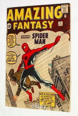 1962 AMAZING FANTASY #15 COMIC BOOK FIRST APPEARANCE OF SPIDER MAN 100% ORIGINAL
