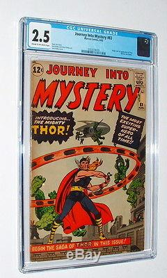 1962 Journey Into Mystery Issue #83 Comic Book Cgc Graded 2.5