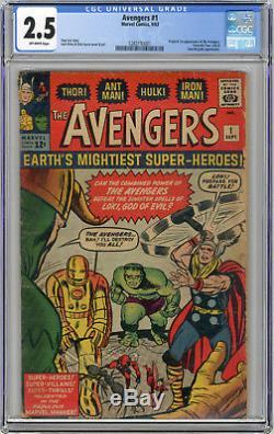 1963 Avengers 1 CGC 2.5 Origin & 1st Appearance