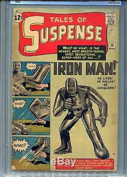 1963 Marvel Tales Of Suspense #39 Cbcs 2.5 Ow-ow 1st Appearance Iron Man Cgc