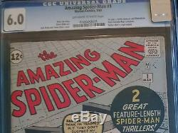 1963 Marvel Amazing Spider-Man #1 CGC 6.0 Off White to White Pages