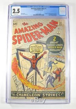 1963 Marvel The Amazing Spider-Man #1 Fantastic Four Silver Age CGC Graded 2.5