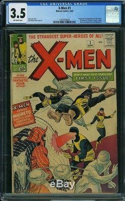 1963 X-Men 1 CGC 3.5! 1st App of X-Men Bonus Amazing Spiderman #800 Dell'Otto