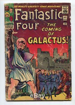 1966 Marvel Fantastic Four #48 1st Appearance Silver Surfer & Galactus Fair/good