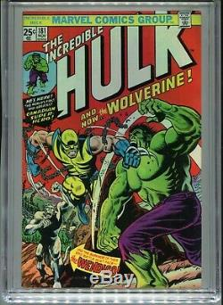 1974 Marvel The Incredible Hulk #181 1st Appearance Wolverine Cgc 8.5 Ow-w