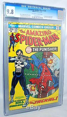 1974 The Amazing Spider-man #129 Cgc 9.8 Nm/mt 1st Appearance Punisher Ow-w Pgs