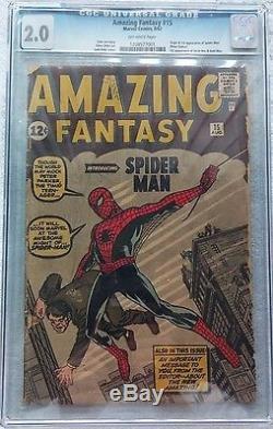 1st Spider-man Amazing Fantasy 15 CGC 2.0 UNRESTORED Marvel Civil War Investment