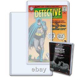 20 BCW SILVER AGE COMIC BOOK HOLDER TOPLOAD 7 1/4x10 3/4 x5 mm RIGID CASE