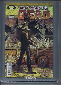 2003 Image Walking Dead #1 Moore Kirkman Signed Sketch Cgc 9.8 Signature Series