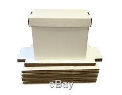 40 Short Comic Storage Boxes NEW Max Pro Brilliant White -150 Comic Book Storage