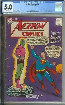 Action Comics #242 Cgc 5.0 Ow Pages