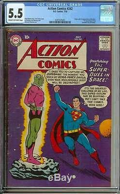 Action Comics #242 Cgc 5.5 Cr/ow Pages