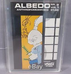 ALBEDO #2 (Usagi Yojimbo 1st app, Stan Sakai signed & sketched) PGX 9.4 NM 1984