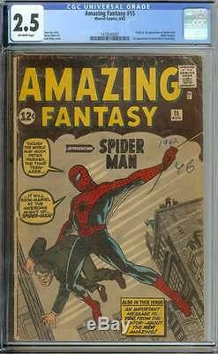 Amazing Fantasy #15 Cgc 2.5 Ow Pages