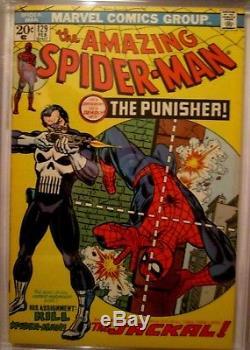 AMAZING SPIDER-MAN # 129 2/74 1st APPEARANCE PUNISHER CGC GRADED 8 RARE GEM