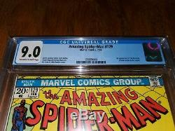 AMAZING SPIDER-MAN #129 CGC 9.0 1st Appearance of The Punisher