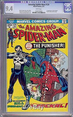AMAZING SPIDER-MAN #129 CGC 9.4 White Pages 1st PUNISHER NO RESERVE