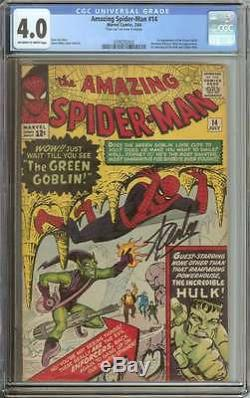 AMAZING SPIDER-MAN #14 CGC 4.0 OWithWH PAGES
