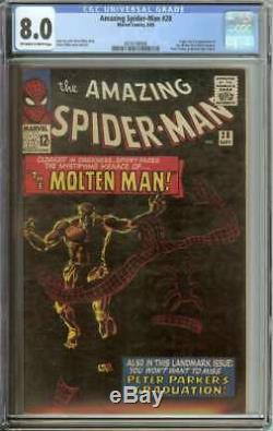 AMAZING SPIDER-MAN #28 CGC 8.0 OWithWH PAGES