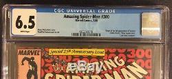 AMAZING SPIDER-MAN #300 Comic Book CGC 6.5 1ST APPEARANCE VENOM Eddie Brock 1988