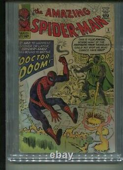AMAZING SPIDER-MAN #5 1963 comic book original owner CGC graded 2.5 good +