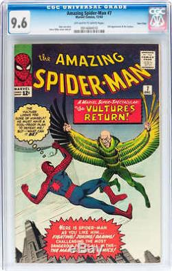 AMAZING SPIDER-MAN (SPIDERMAN) #7 CGC 9.6 OWithWH PAGES