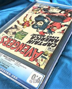 AVENGERS #4 9.0 CGC 1964 Comic Book STAN LEE JACK KIRBY SIGNATURE sig auto