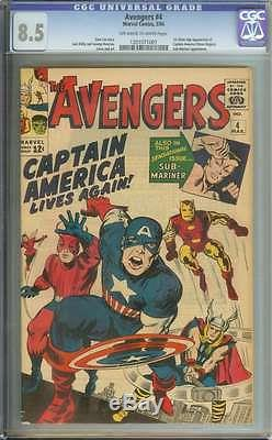 AVENGERS #4 CGC 8.5 OWithWH PAGES