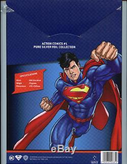 Action Comics #1 2018 CGC10.0 Gem Mint 35 Grams Silver Foil DC Superman 1st Rel