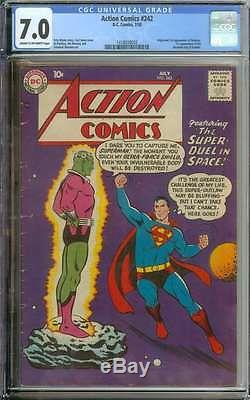 Action Comics #242 Cgc 7.0 Cr/ow Pages