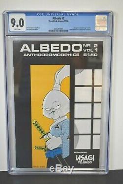 Albedo #2 (1984) CGC Graded 9.0 1st Appearance Usagi Yojimbo Stan Sakai Art
