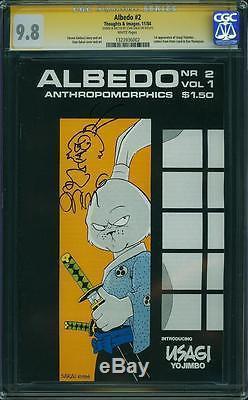 Albedo #2 CGC 9.8 1984 Stan Sakai Signature! 1st Usagi Yojimbo! TMNT Laird! E12