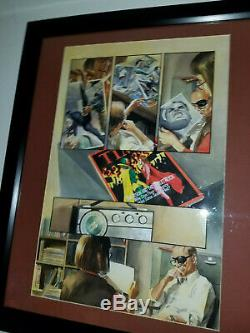 Alex Ross Marvels Comic book page original art featuring Black Panther + more