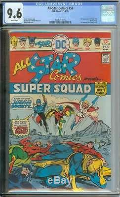 All-star Comics #58 Cgc 9.6 White Pages