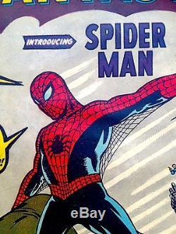 Amazing Fantasy 15 #1 Spider-Man Comic Book 1962 NM 9.4 R CGC CBCS it Hulk 181