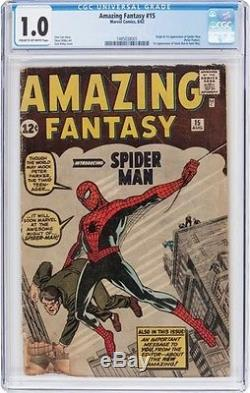 Amazing Fantasy #15 (1962, Marvel) Holy Grail / Silver Age Nicest 1.0 CGC WOW
