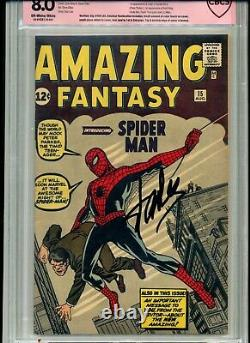 Amazing Fantasy #15 8.0 Vf With Verified Cbcs Stan Lee Signature Not Cgc