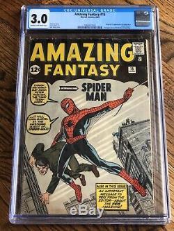Amazing Fantasy #15 AF CGC 3.0 MEGA KEY 1st Appearance Spider-Man Peter Parker