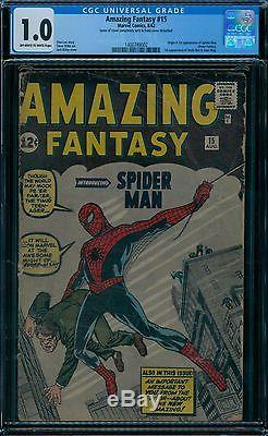 Amazing Fantasy 15 CGC 1.0 1st Spider-Man owithw pages