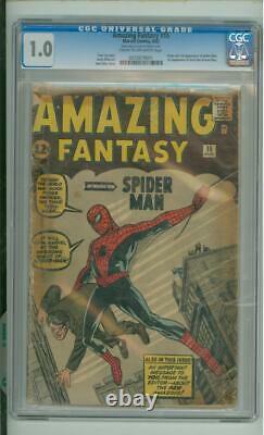 Amazing Fantasy #15 CGC 1.0 Origin & 1st App Of Spider-Man 1962