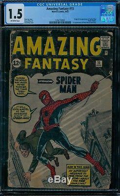 Amazing Fantasy 15 CGC 1.5 1st Spider-Man