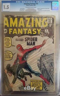 Amazing Fantasy #15 CGC 1.5 Origin! 1st Spider-man! Movie! C12 212 cm