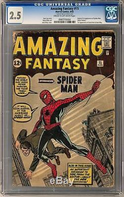 Amazing Fantasy #15 CGC 2.5 (C-OW) Origin and 1st Appearance of Spider-Man